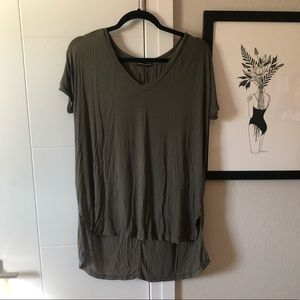brandy melville army green tee